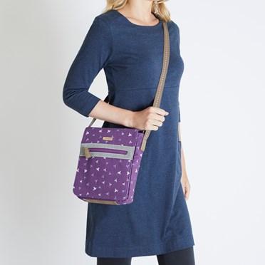 Hallie Patterned Cross Body Bag Purple Potion