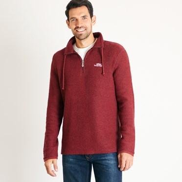 Cruiser 1/4 Zip Classic Macaroni Sweatshirt Henna