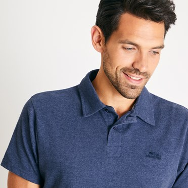 Quay Branded Polo Shirt Navy Marl