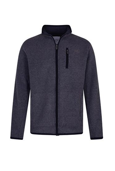 Rossten Full Zip Grid Fleece Jacket Washed Black