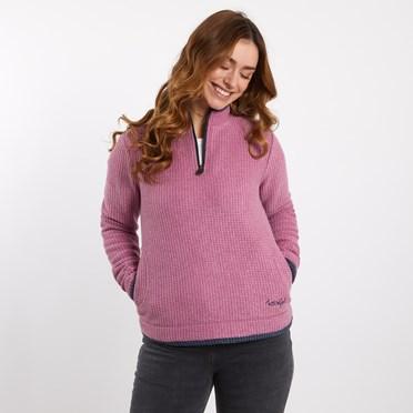 Beyonce 1/4 Zip Grid Fleece Sweatshirt Malaga