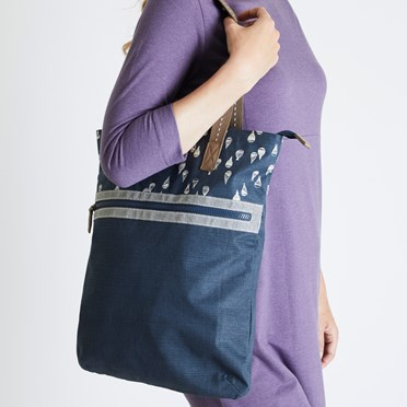 Sina Printed Shopper Bag Dark Navy