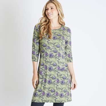 Starshine Printed Jersey Dress Pear