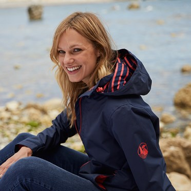 Lulu Waterproof Jacket Dark Navy