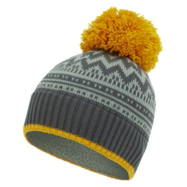 Disa Fair Isle Patterned Hat Gunmetal