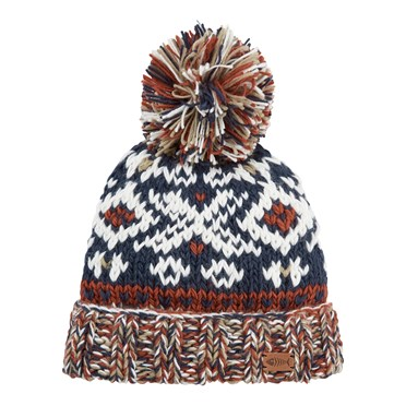 Paulo Fair Isle Patterned Hat Navy
