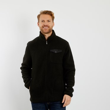 Ellroy Full Zip Fleece Jacket Washed Black