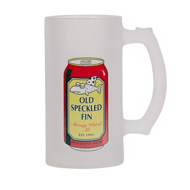 Old Speckled Fin Artist Pint Glass Red