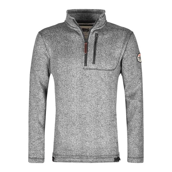 Tate Textured Tech Soft Knit Frost Grey