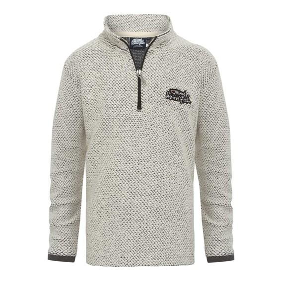 Texas Boy's 1/4 Zip Classic Macaroni Sweatshirt Ecru