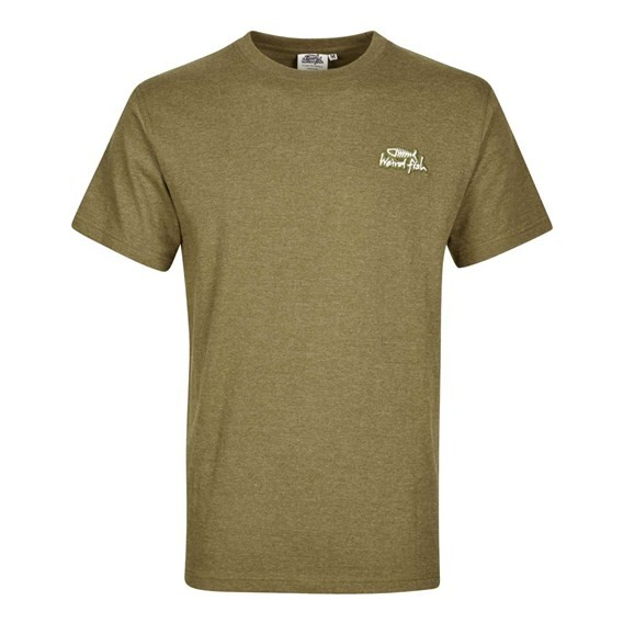Bones Embroidered Logo Classic Plain T-Shirt Military Olive Marl
