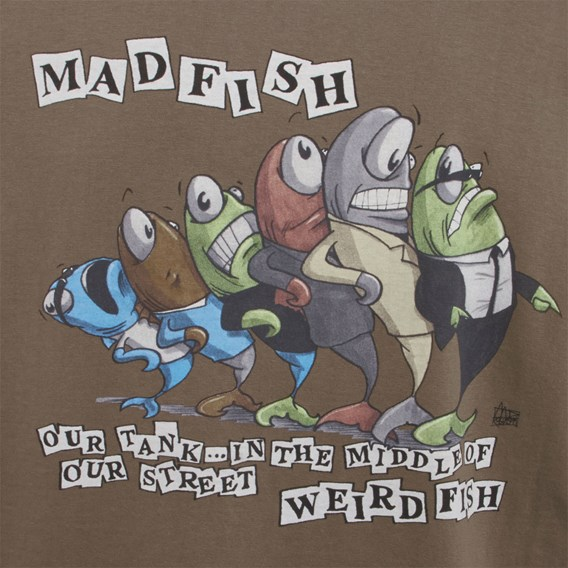 Madfish Artist T-Shirt Mushroom