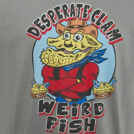 Desperate Clam Artist T-Shirt Steel