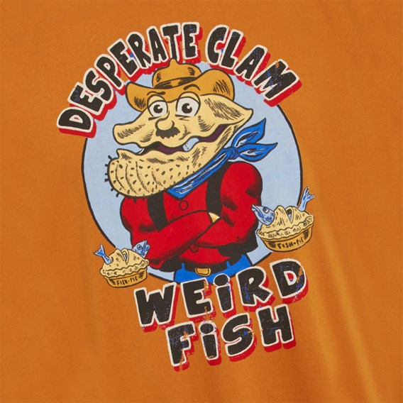 Desperate Clam Artist T-Shirt Saffron