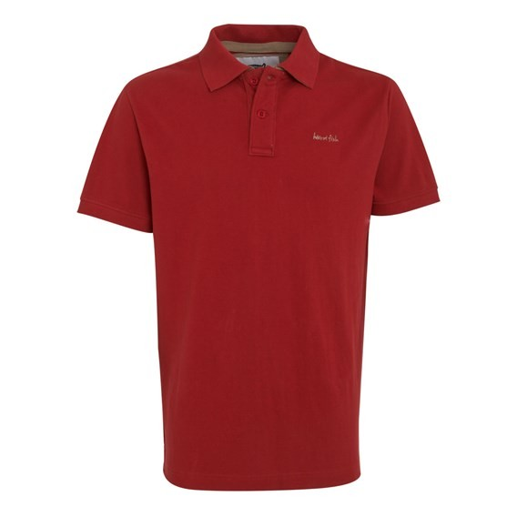 Barros Pique Polo Shirt Chilli Red