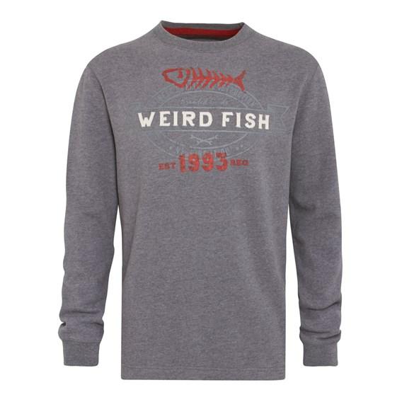 Statement Crew Neck Sweatshirt Grey Marl