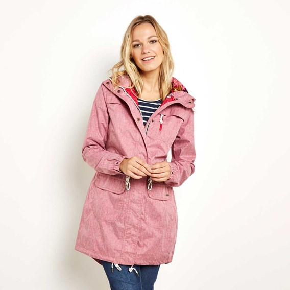 Pensacola Print Lined Waterproof Parka Jacket Wine