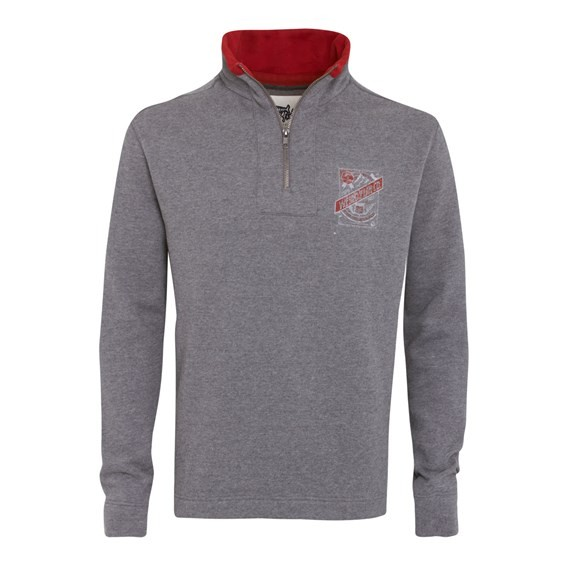 Tabernas ¼ Zip Sweatshirt Grey Marl