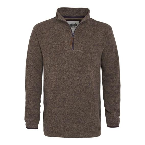 Totum ¼ Zip Soft Knit Fleece Mushroom