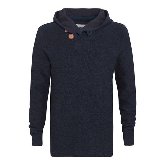 Tavistock ¼ Button Jarse Knit Hoody Midnight