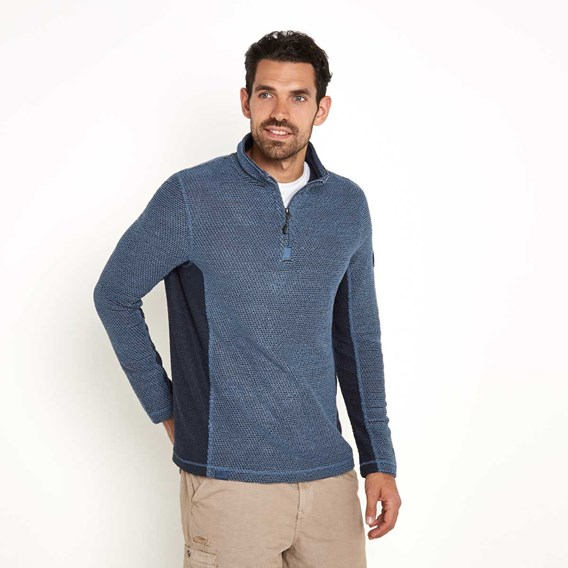 Siren 1/4 Zip Active Macaroni Sweatshirt China Blue