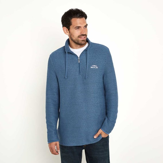 Cruiser 1/4 Zip Classic Macaroni Sweatshirt Ensign