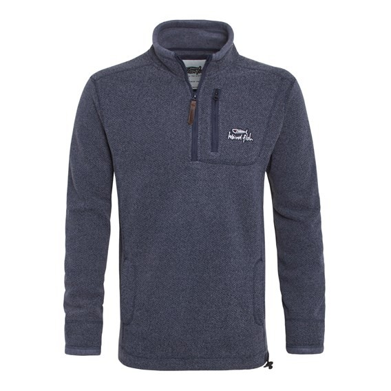 Status ¼ Zip Tech Soft Knit Fleece Rich Navy