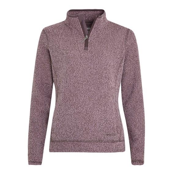 Vogel 1/4 Zip Soft Knit Fleece Pale Mauve