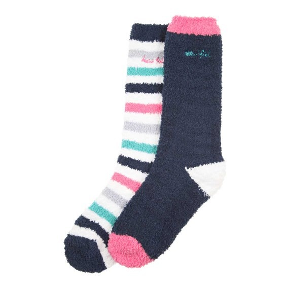 Park Fluffy Sock 2 Pack Navy