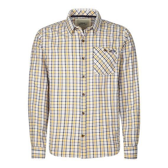 George Long Sleeve Brushed Check Shirt Charcoal