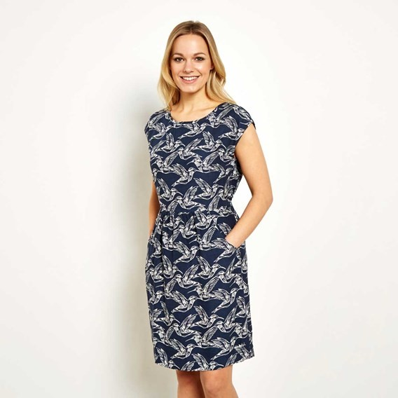 Minnihaha Printed Lightweight Dress Navy