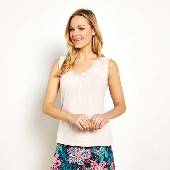 Hanoi Cotton Outfitter Vest Top Porridge