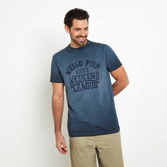 Weekend League Graphic Print T-Shirt Moonlight Blue