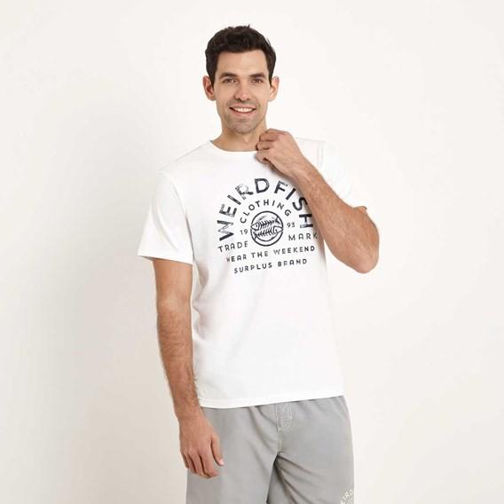 WF Surplus Graphic Print T-Shirt Snow White Marl