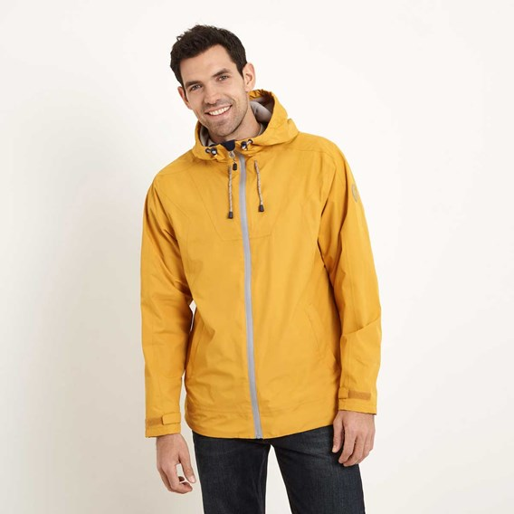 Prescott Fully Waterproof Hooded Jacket Old Gold