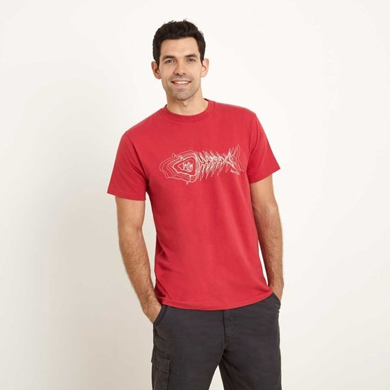 Scribble Graphic Print T-Shirt Barberry Red