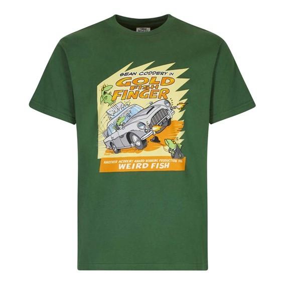 Gold Fish Finger Artist T-Shirt Olive