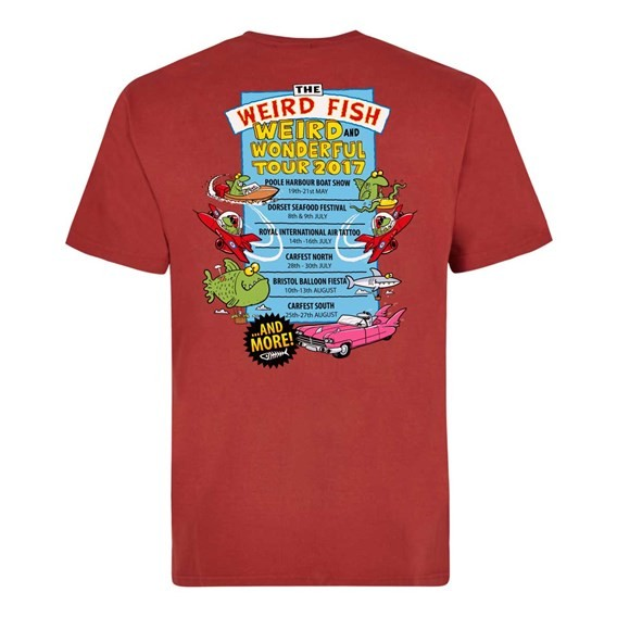 Weird & Wonderful Tour Artist T-Shirt Red