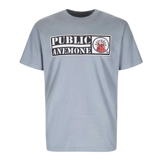 Public Anemone Artist T-Shirt Grey Blue