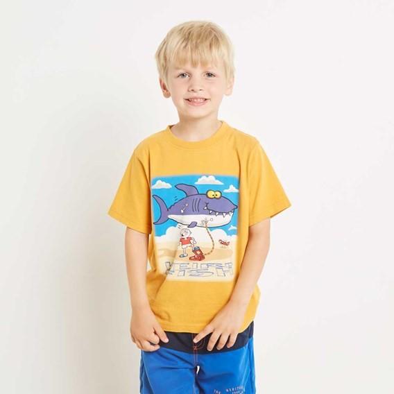 Shark Inflatable Artist T-Shirt Old Gold