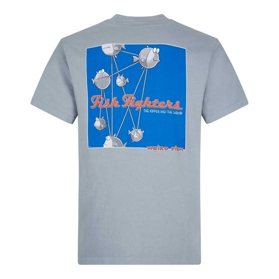 Fish Fighters Artist T-Shirt Grey Blue