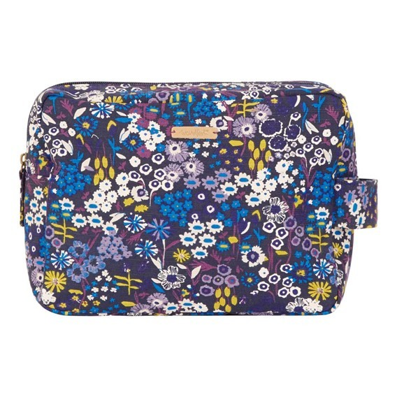 Janis Printed Wash Bag Indigo