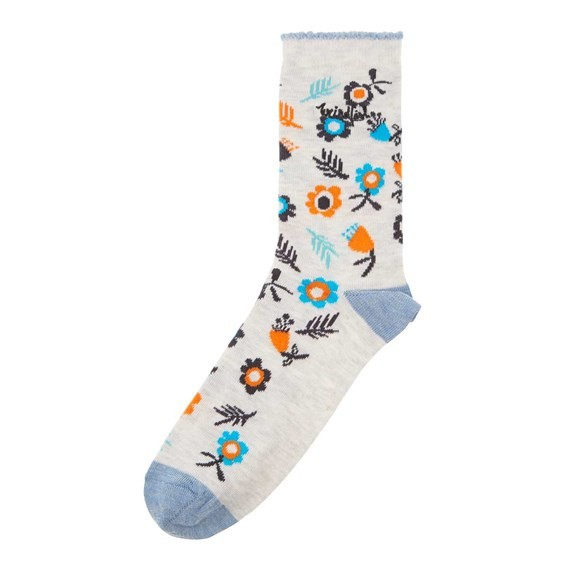Huron Printed Sock Clementine