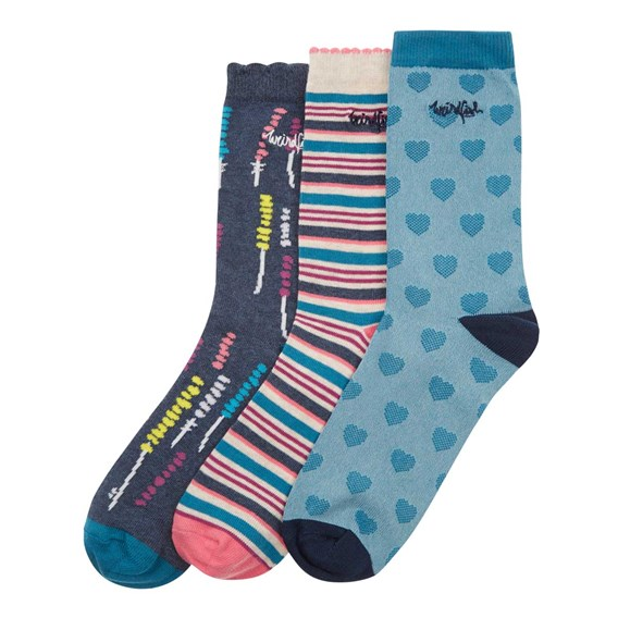 Parade Pattern Sock 3-Pack Dark Navy