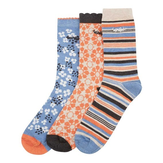 Parade Pattern Sock 3-Pack Clementine