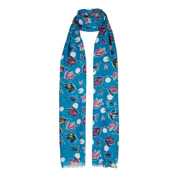 Alverton All Over Print Scarf Blue Jay