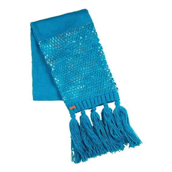 Ayla Fancy Yarn Knitted Scarf Blue Jay