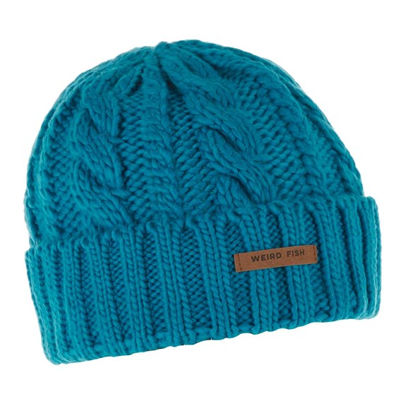 Denver Cable Knit Beanie Blue Jay