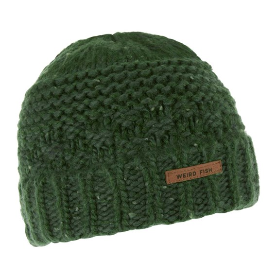 Rusutsu Cable Knit Beanie Olive