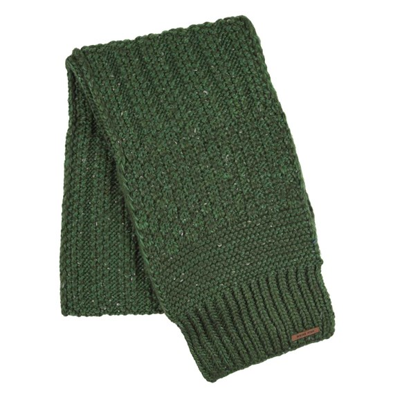 Shiga Cable Knit Scarf Olive
